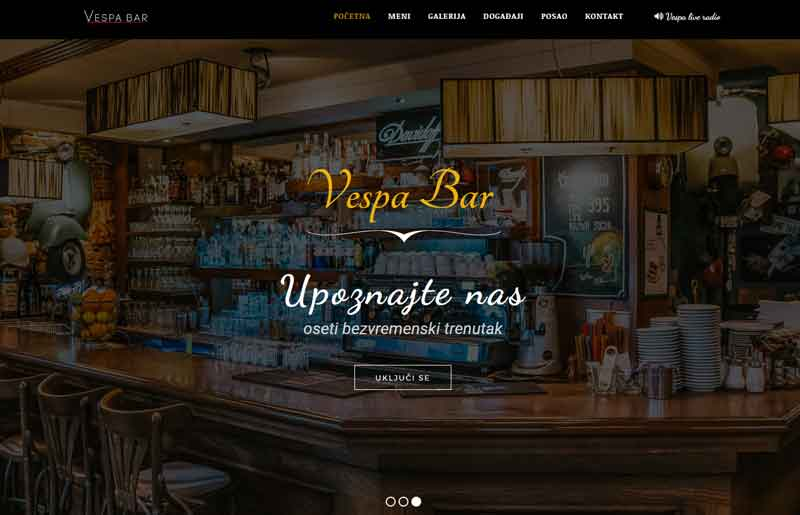 our project-caffe vespabar